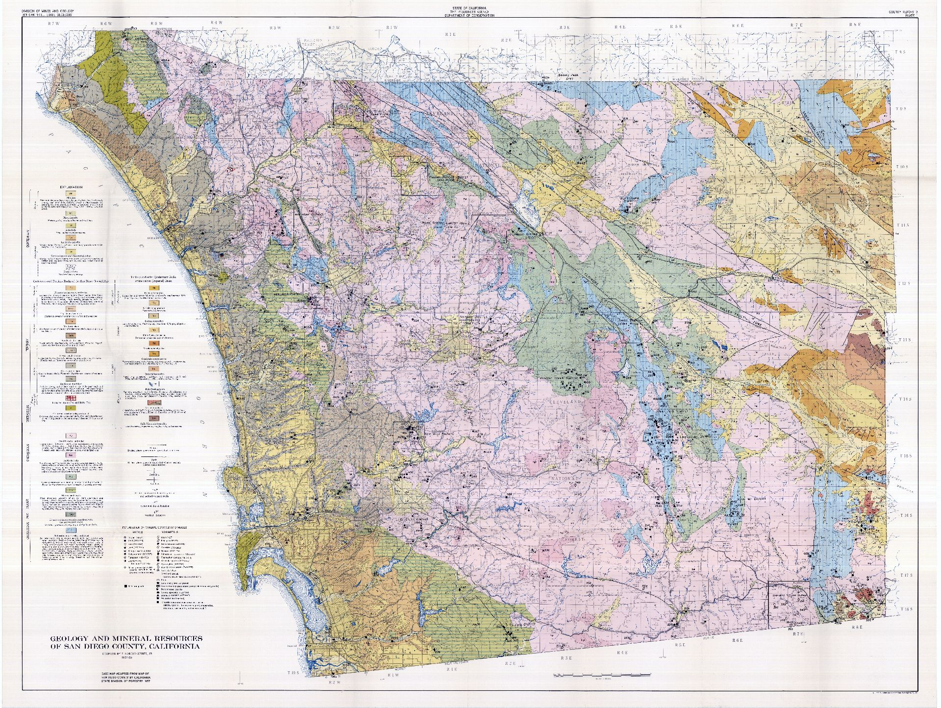 SDAG - Online Historical Geological Maps, San Diego County