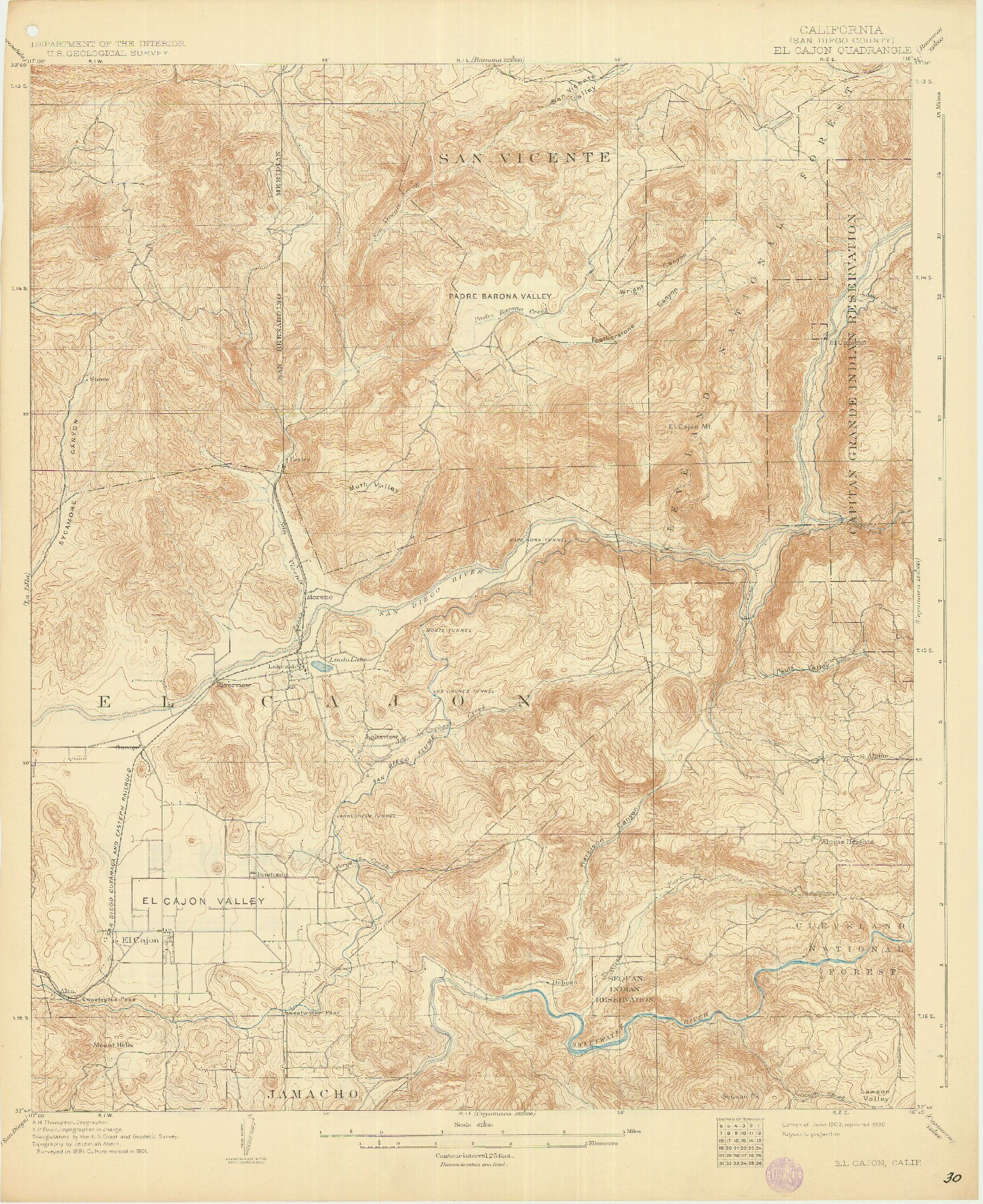 SDAG - Online Historical Topographic Maps, San go County Historic Topographic Maps on